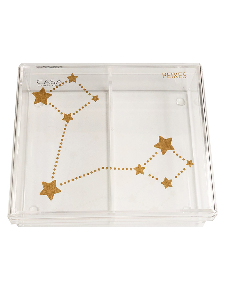 Caixa Organizadora Acrílico Constelação Signos Peixes