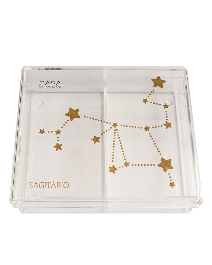 Caixa Organizadora Acrílico Constelação Signos Sagitário