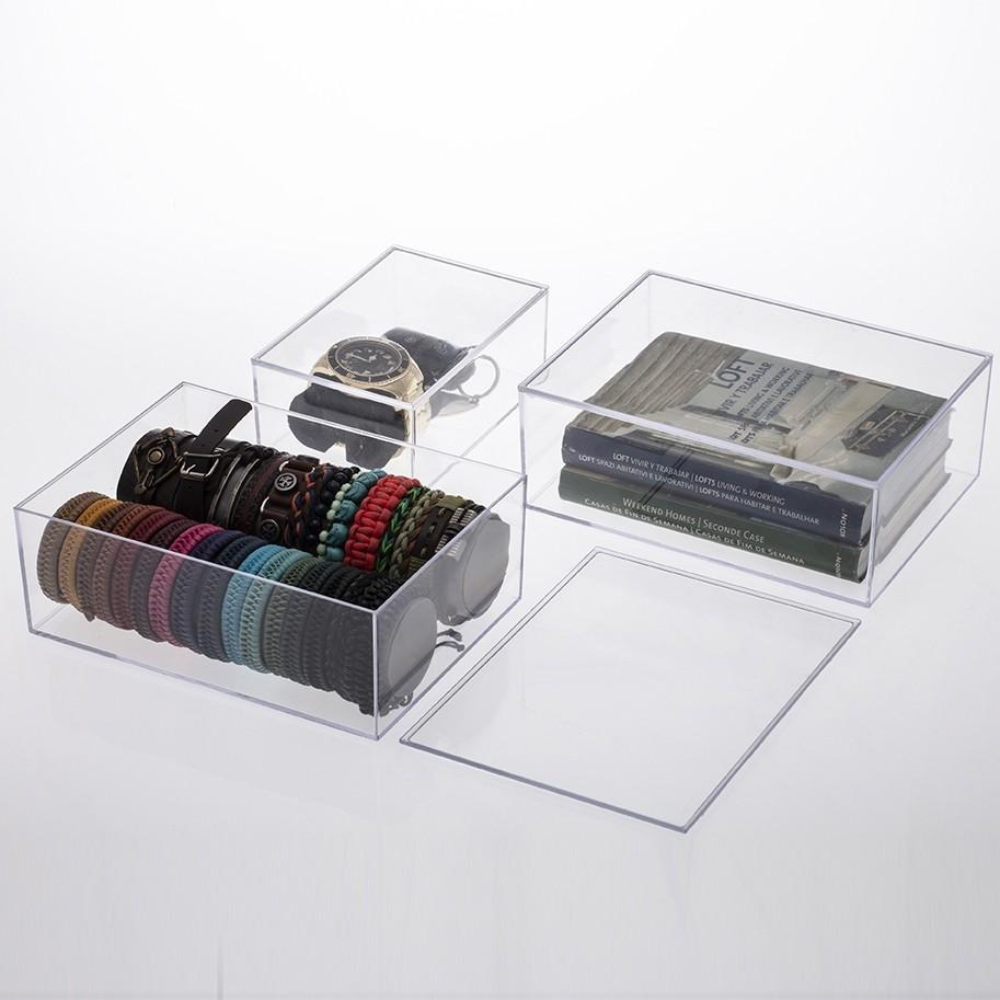 Caixa Organizadora Transparente Grande