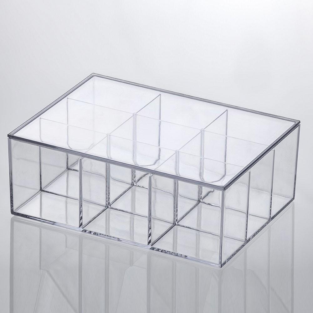Caixa Organizadora Transparente Grande com Divisórias