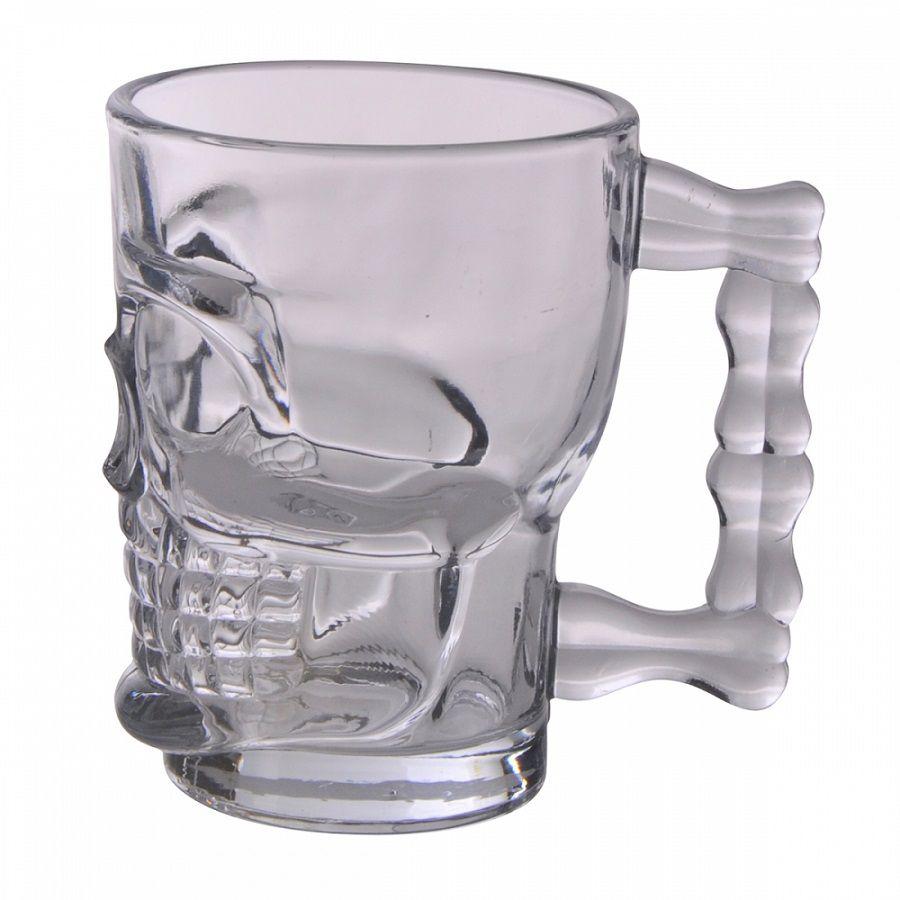 -Caneca - Caveira vidro transparente