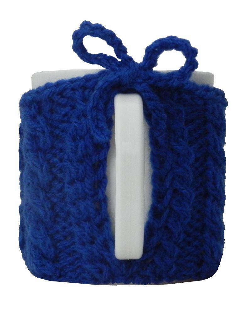 -Caneca - Tricô azul