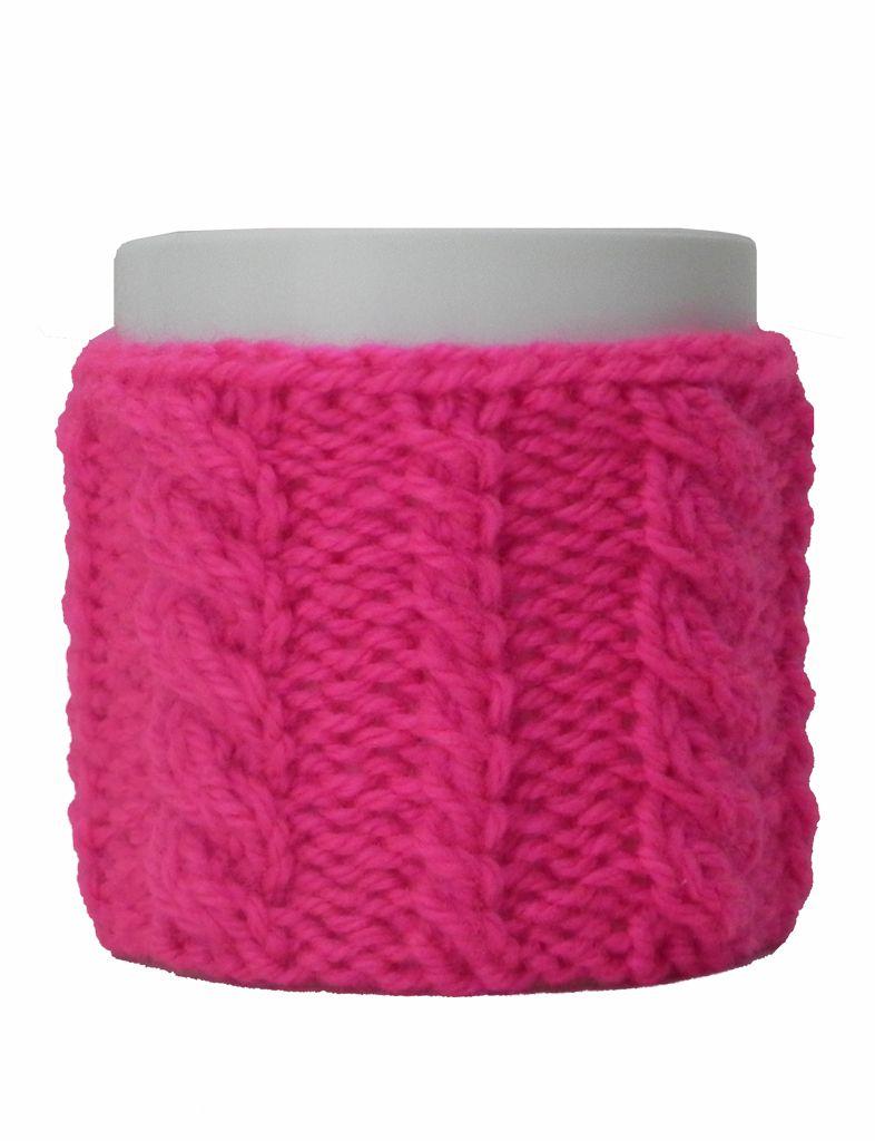 -Caneca - Tricô rosa pink
