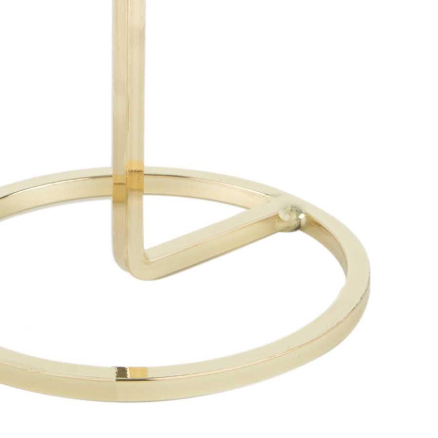 Castiçal de Metal Dourado 18cm