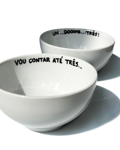 Conjunto Bowl de Porcelana Frase Mães
