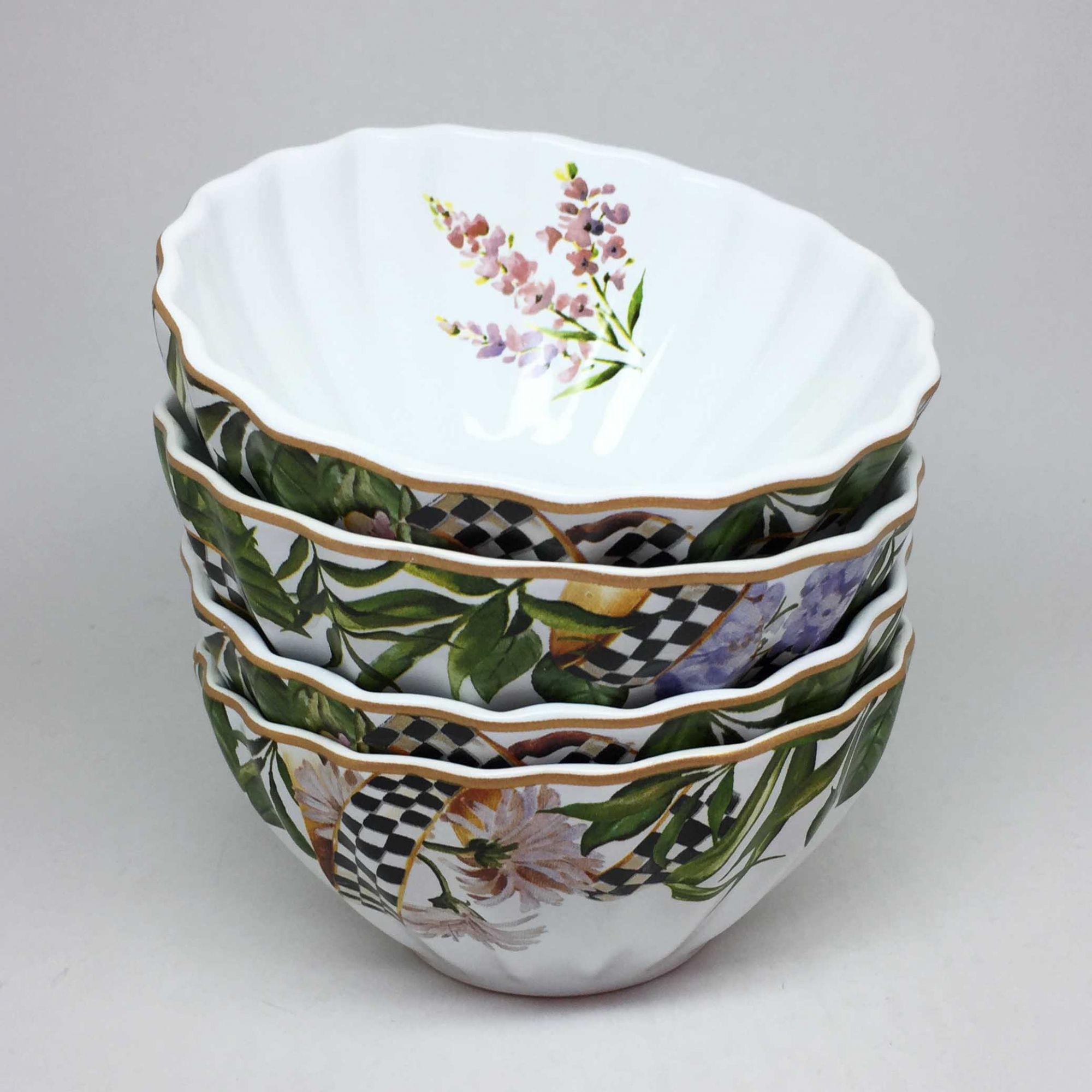 Kit Bowl Estampado Floral Colorido 4 Unidades