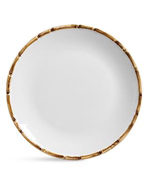 Conjunto Prato Raso em Cerâmica Bambu 6 unidades