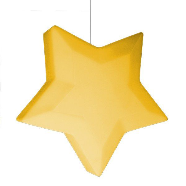 -Luminária - Pendente estrela amarela