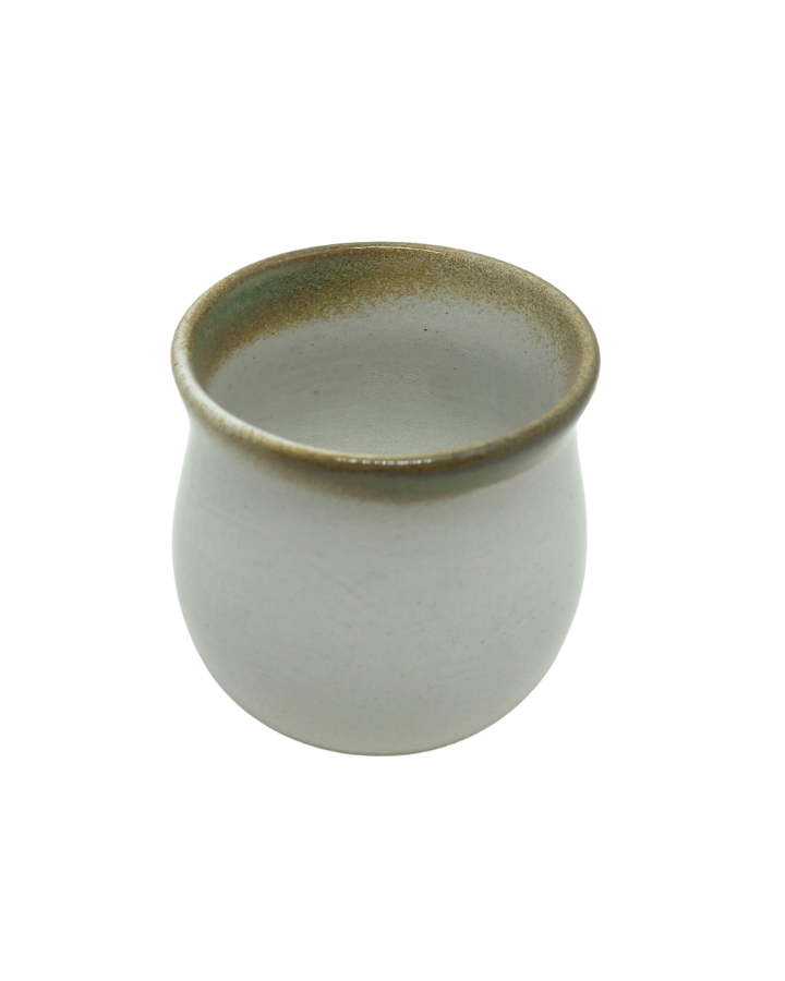 Copo de Cerâmica Artesanal Branco Médio