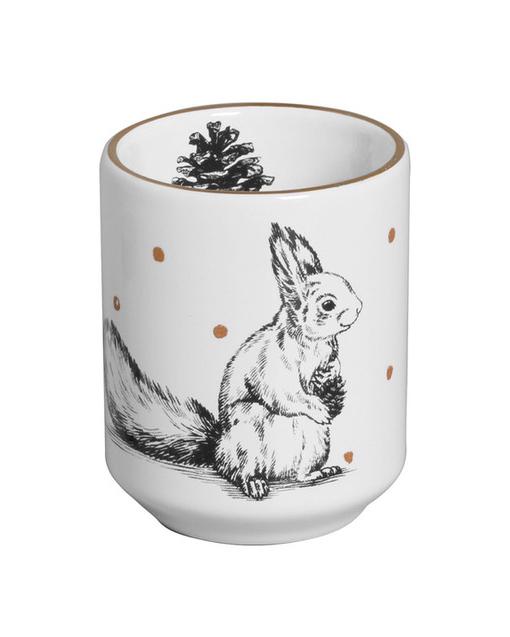 Copo de Cerâmica Esquilo com Poá Branco