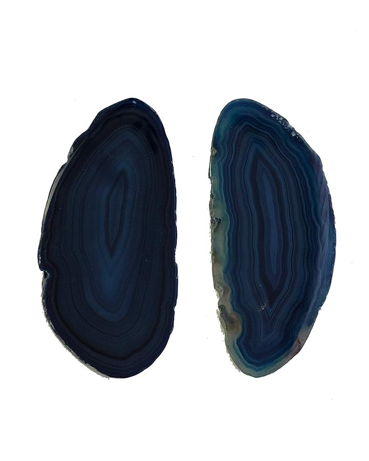 Descanso de Talher Cristal Ágata Azul 2 Unidades