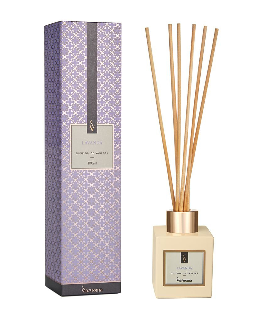 Difusor de Perfume com Varetas Lavanda100ml