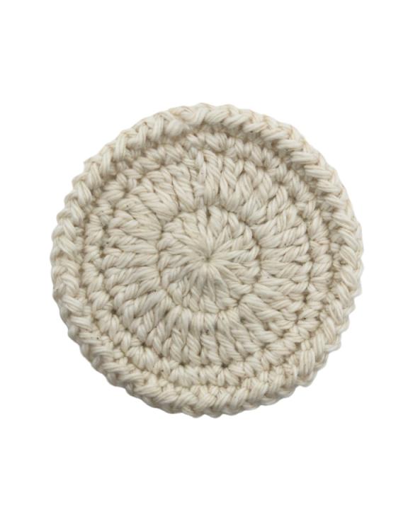 Disco Ecopad de Crochê Natural para Limpeza de Pele