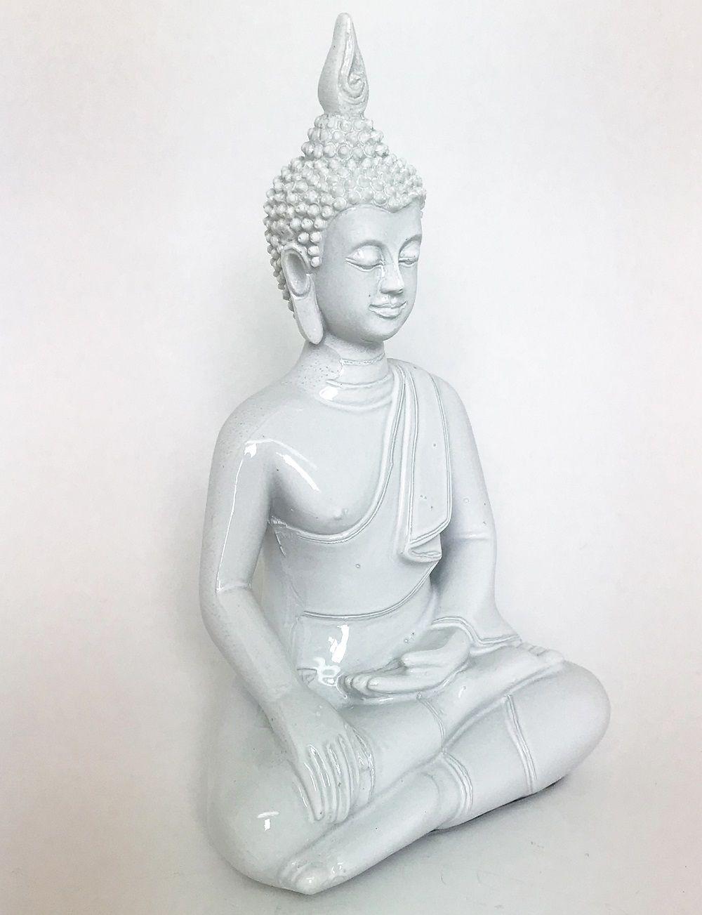 -Enfeite - Buda branco