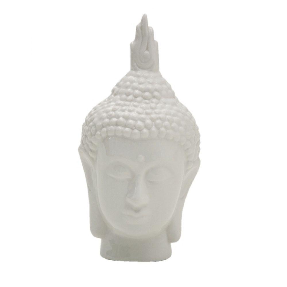 -Enfeite - Cabeça de Buda branco