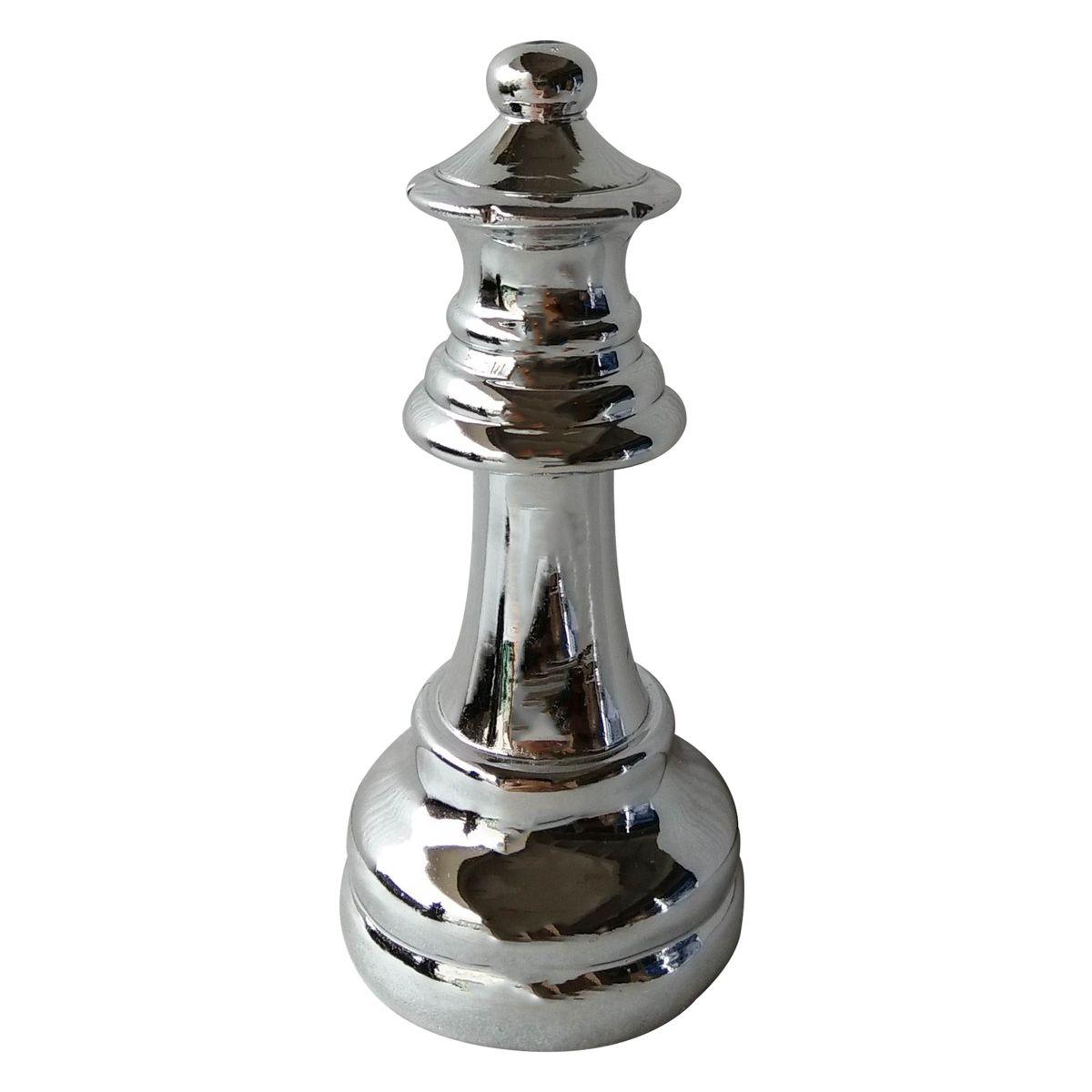 - Enfeite - Rainha xadrez prata
