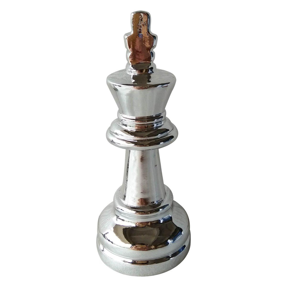 - Enfeite - Rei xadrez prata