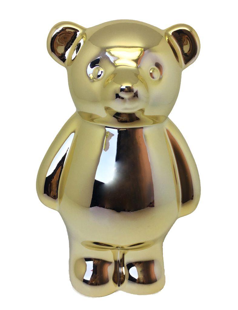 -Enfeite - Urso dourado