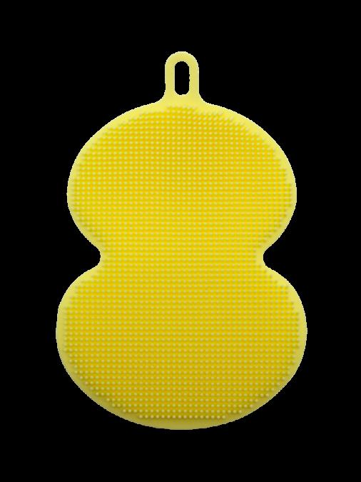 Esponja de Silicone Massageadora Amarela Oval