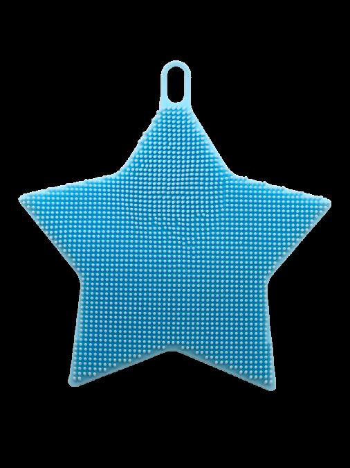 Esponja de Silicone Massageadora Azul Estrela