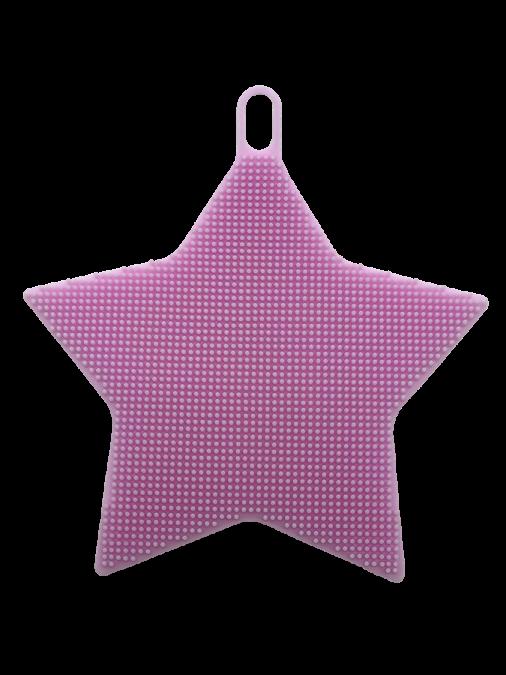 Esponja de Silicone Massageadora Rosa Estrela