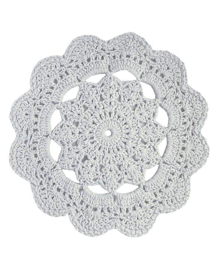 Jogo Americano de Crochê Mandala Branca 2 unidades