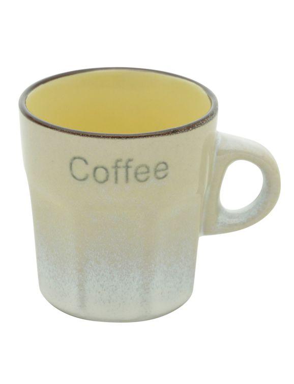 Jogo de Xícaras de Café 6 Peças Coloridas Coffee