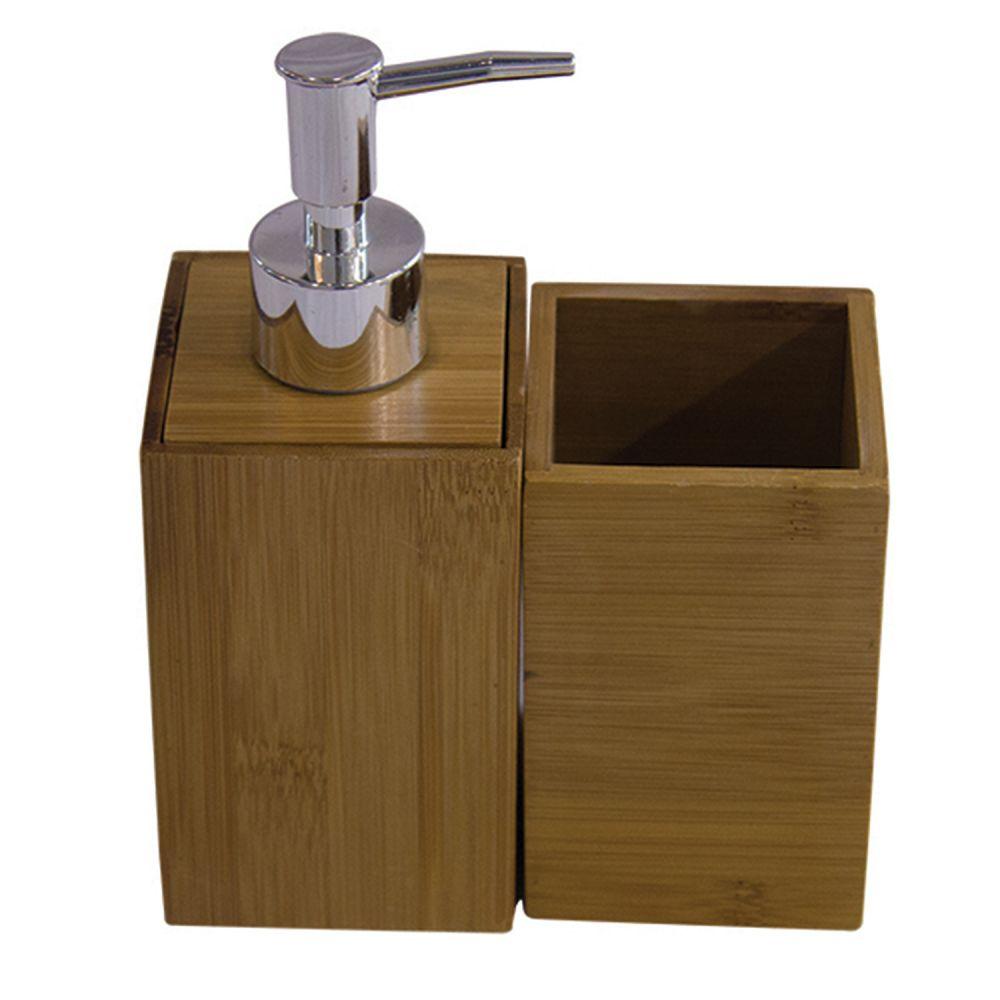 - Kit banheiro - Bambu 2 unidades