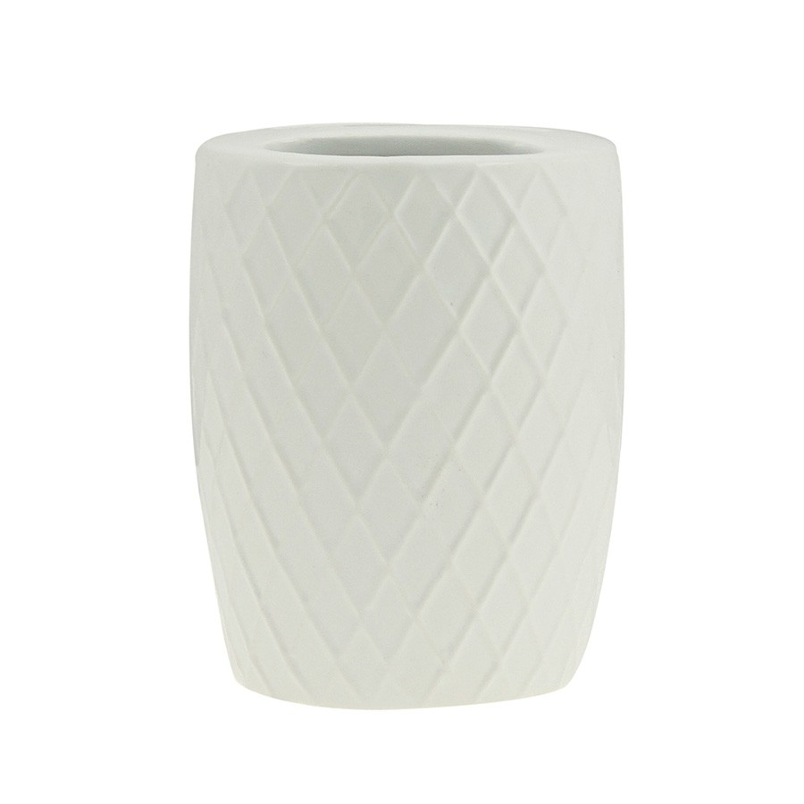 Kit Banheiro Cerâmica Branca 3 Unidades
