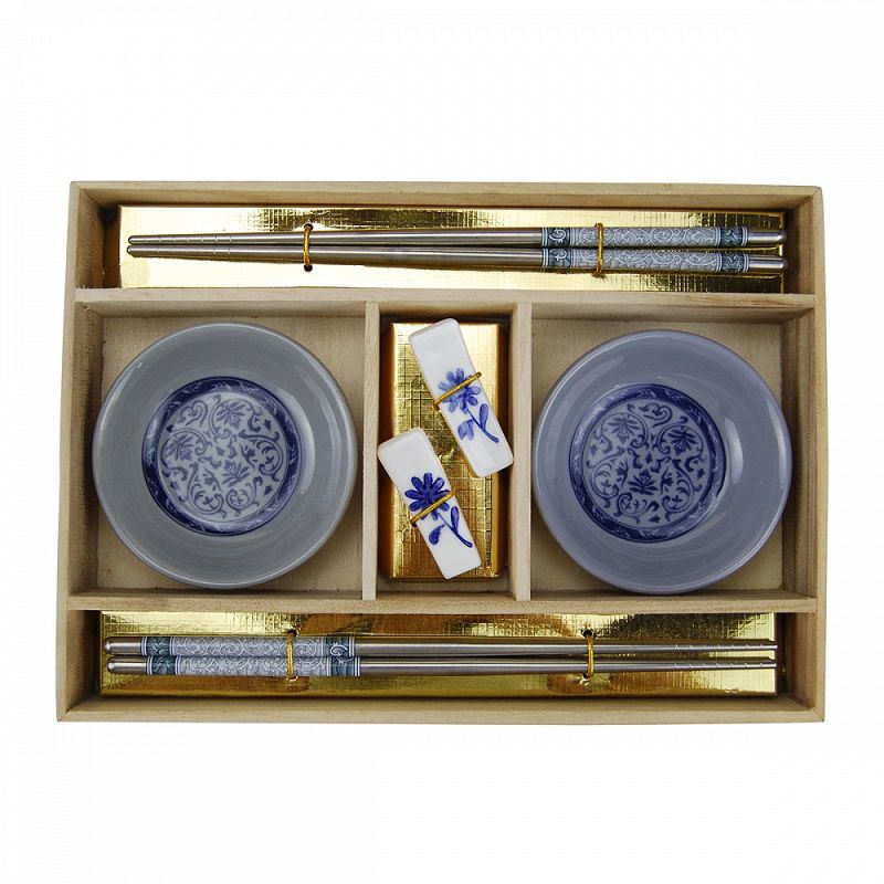 -Kit comida japonesa - Azul 2 unidades