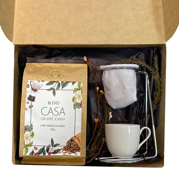 Kit Presente Cafezinho com Coador