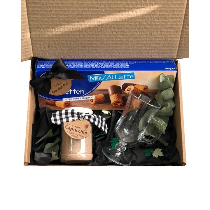 Kit Presente Cappuccino com Biscoitos
