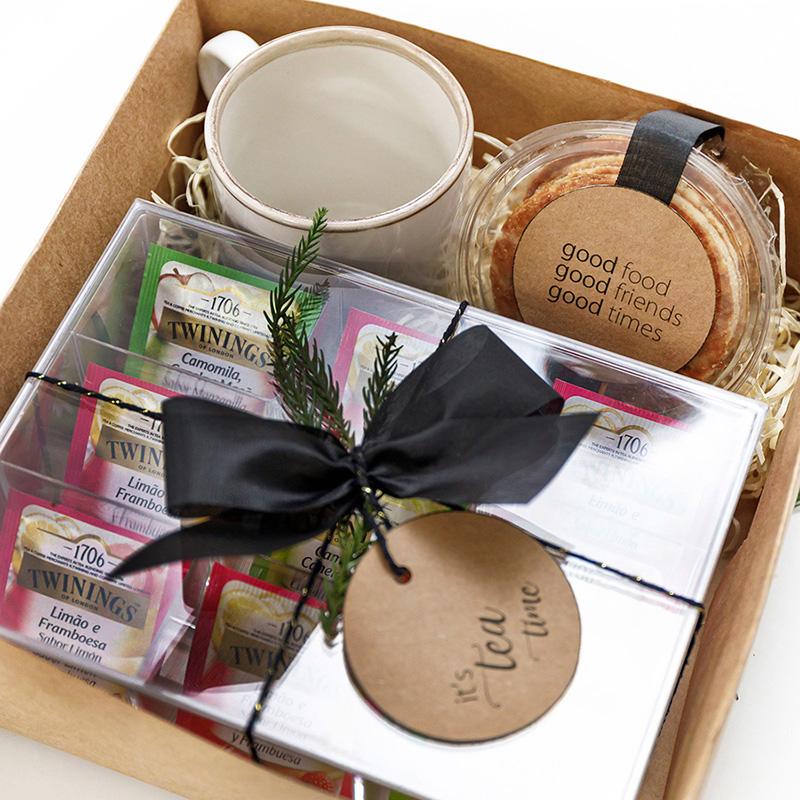 Kit Presente Chá com Caixa Organizadora