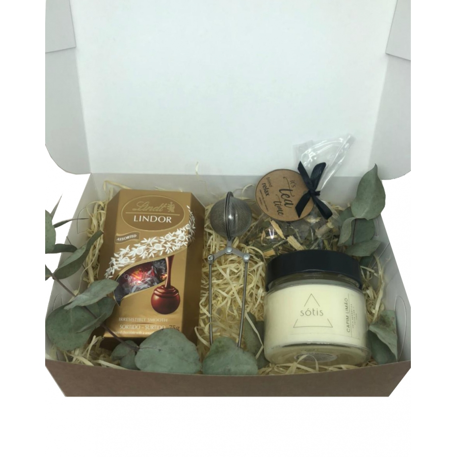 Kit Presente Chá da Tarde com Vela