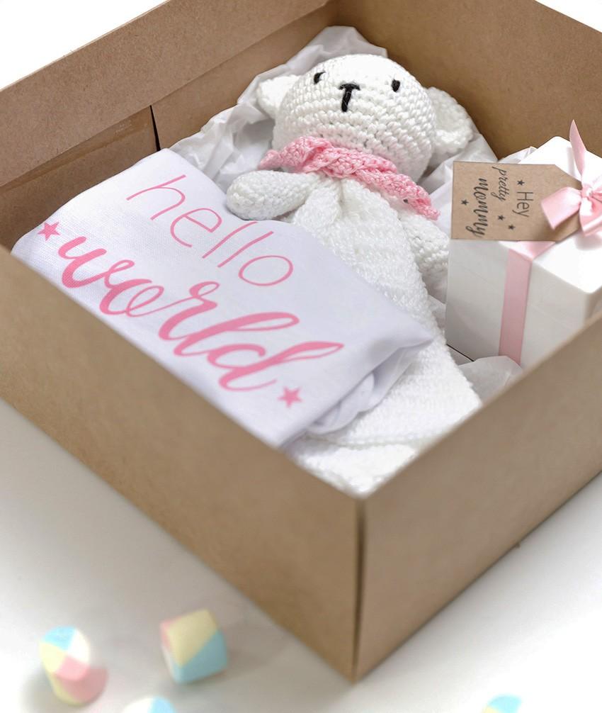 Kit Presente Recém-nascido Amigurumi Naninha Rosa