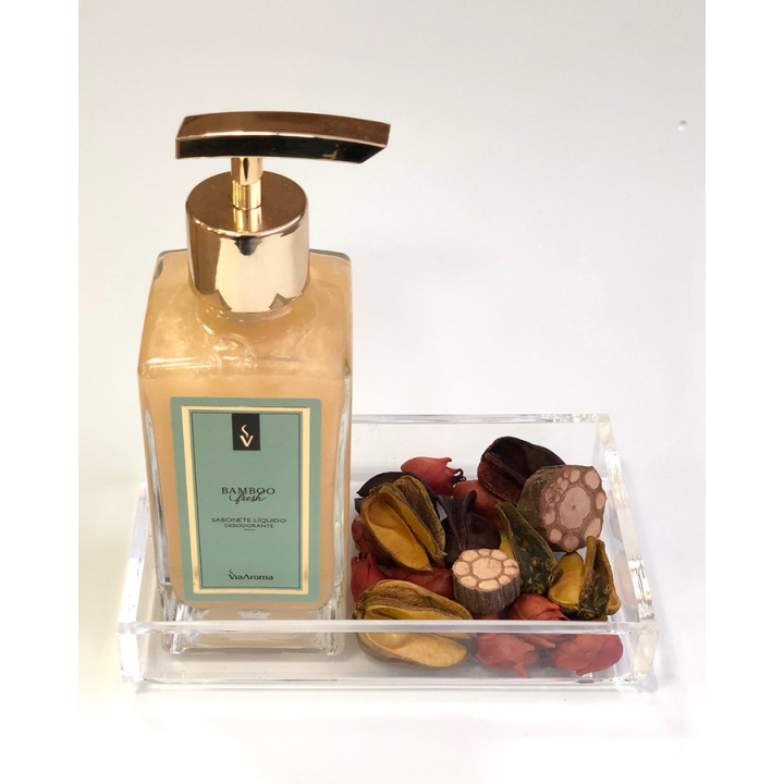 Kit Presente Set Lavabo Pot-Pourri com Bandeja Acrílica