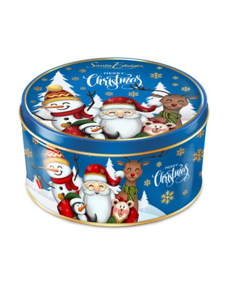 Lata Mini Biscoitos Amanteigados Natal Azul