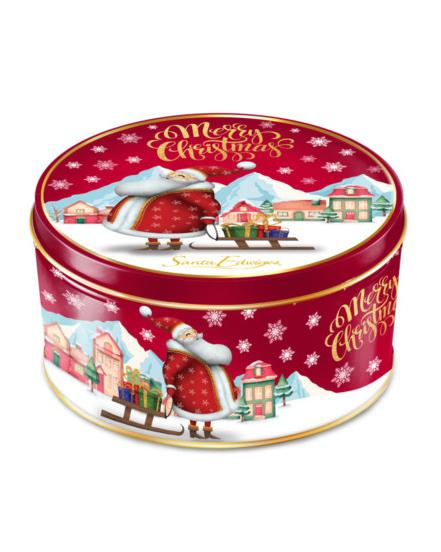 Lata Mini Biscoitos Amanteigados Natal Vermelho