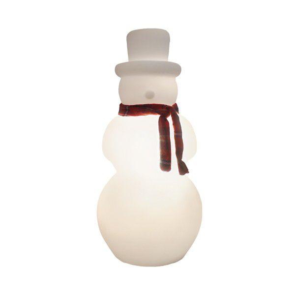 -Luminária - Boneco de neve branco