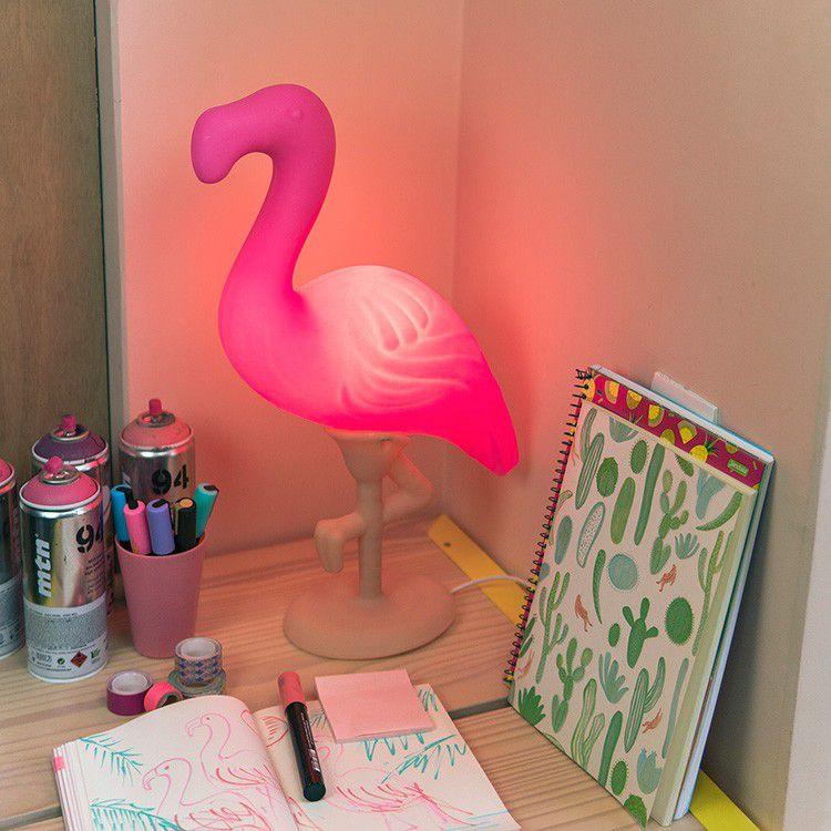 -Luminária - Flamingo rosa