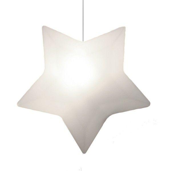 -Luminária - Pendente estrela branca