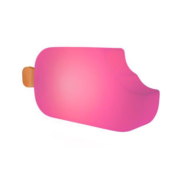-Luminária - Picolé rosa