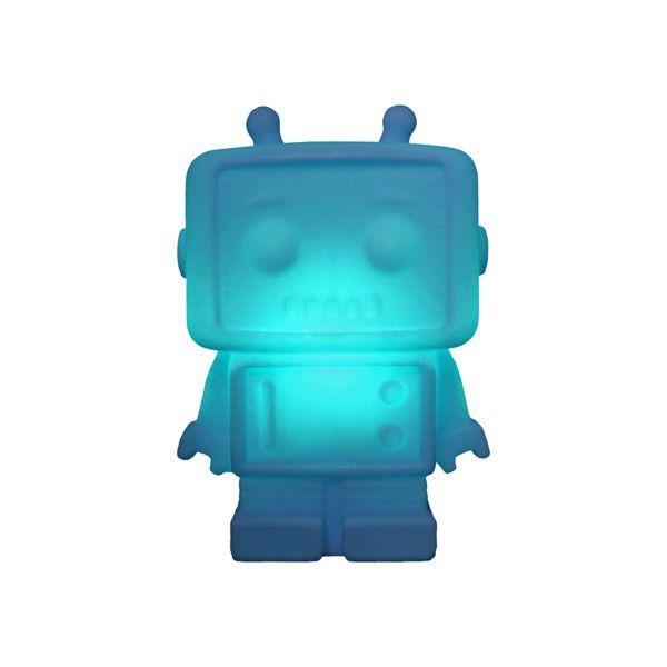 -Luminária - Robô azul