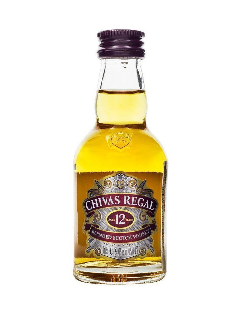 Mini Whisky Chivas Regal 12 anos 50 ml
