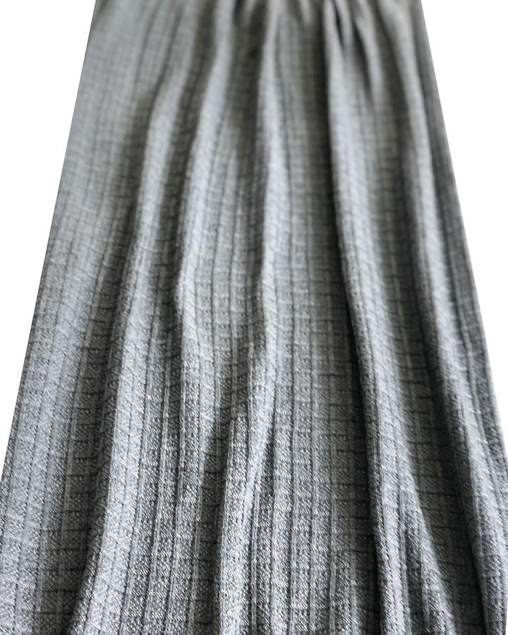 Peseira de Tricô Quadriculada Cinza 240x70cm
