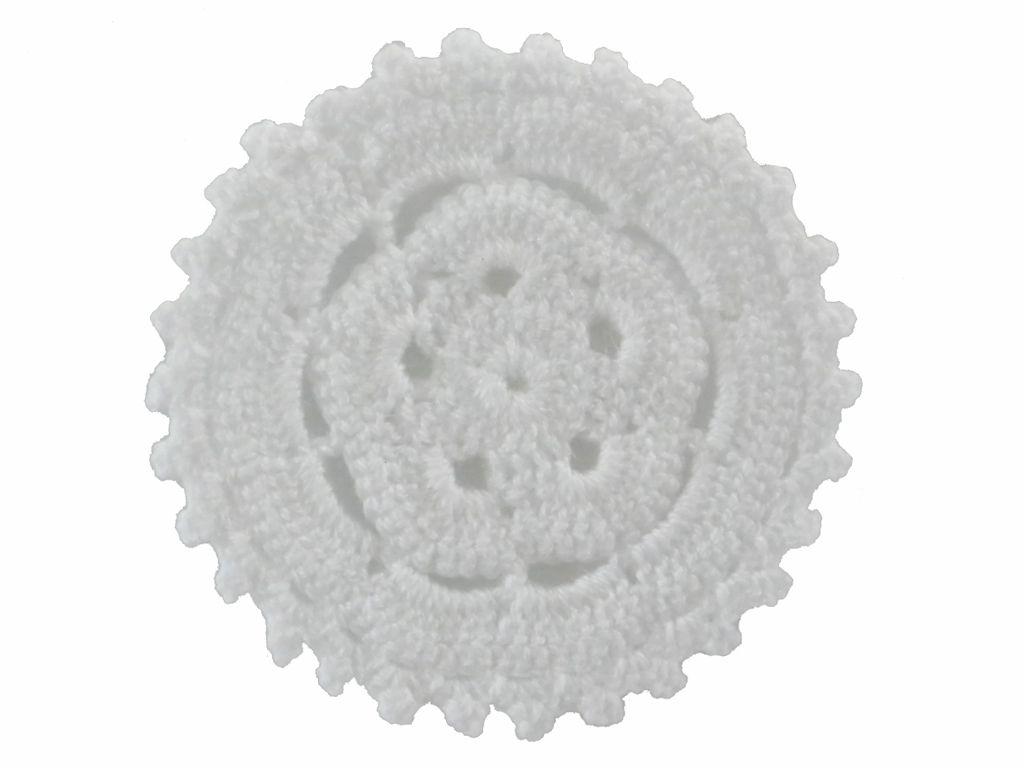 -Porta-copo - Crochê mandala branca 6 unidades