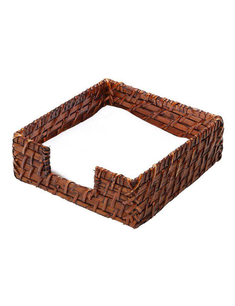 Porta-Guardanapos de Papel em Rattan Marrom