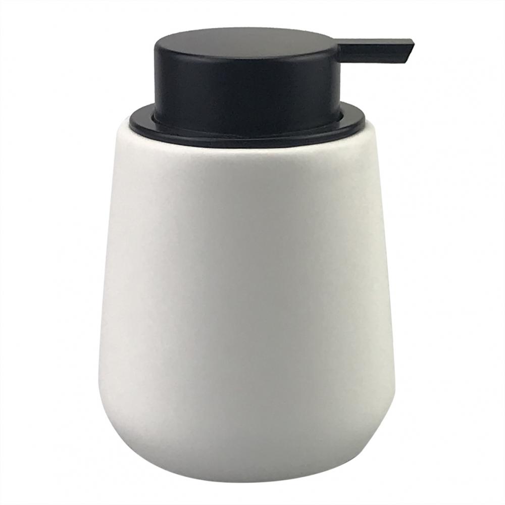 Porta-sabonete Líquido de Porcelana Branco e Preto
