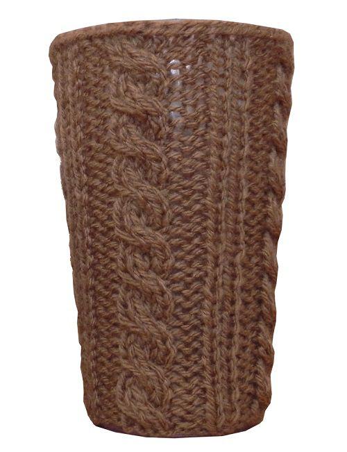 -Porta-treco - Tricô chocolate grande