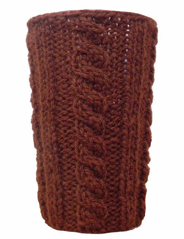-Porta-treco - Tricô marrom grande